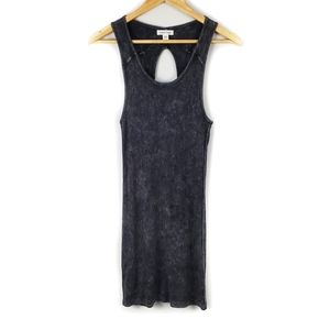 Silence + Noise Black Distressed Tank Dress